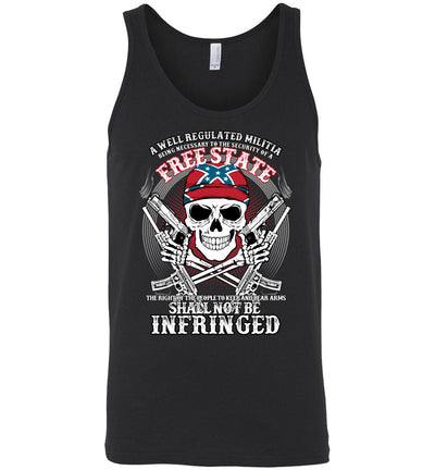The right of the people to keep and bear arms shall not be infringed - Men's 2nd Amendment Tank Top - Black