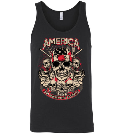 2nd Amendment Patriots - Pro Gun Men's Apparel - Black Tank Top