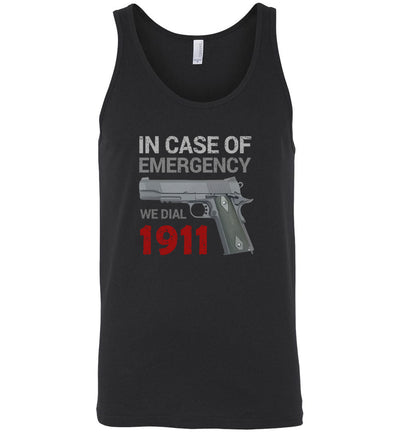 In Case of Emergency We Dial 1911 Pro Gun Мen's Tank Top