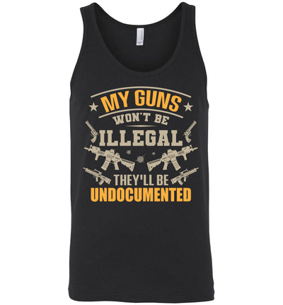 My Guns Won't Be Illegal They'll Be Undocumented - Men's Shooting Clothing - Black Tank Top