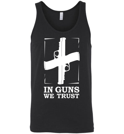 In Guns We Trust - Shooting Men's Tank Top - Black