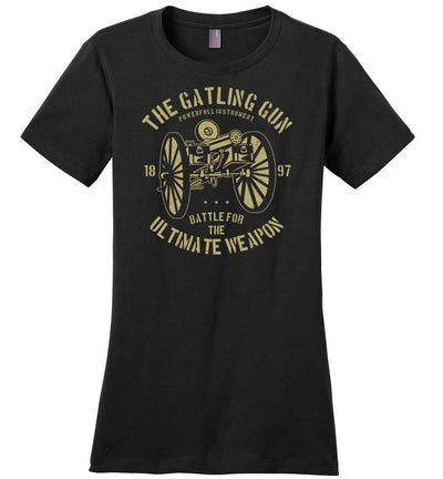 The Gatling Gun - Ladies Pro Gun Tee - Black