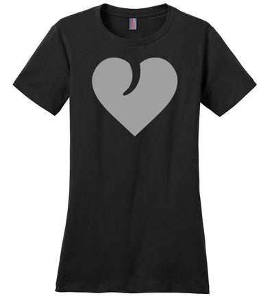 I Love Guns, Heart and Trigger - Ladies 2nd Amendment Apparel - Black Tshirt