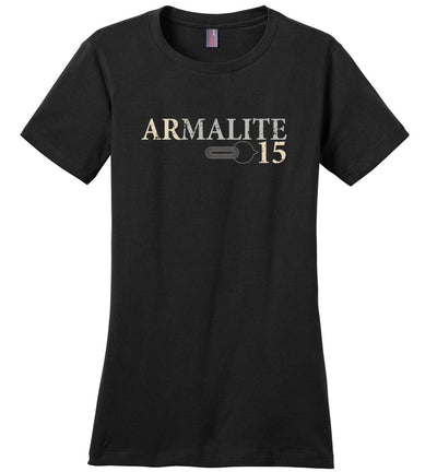 Armalite AR-15 Rifle Safety Selector Ladies Tshirt - Black