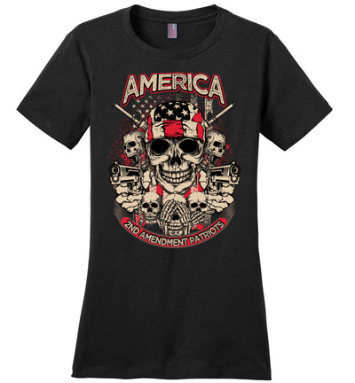 2nd Amendment Patriots - Pro Gun Women's Apparel - Black Tshirt