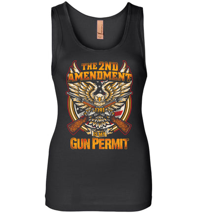 The 2nd Amendment is My Gun Permit - Women's Tank Top - Black