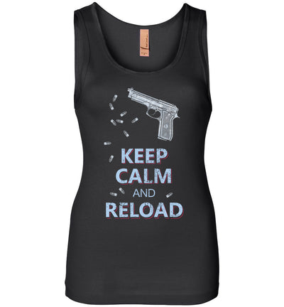 Keep Calm and Reload - Pro Gun Women's Tank Top - Black