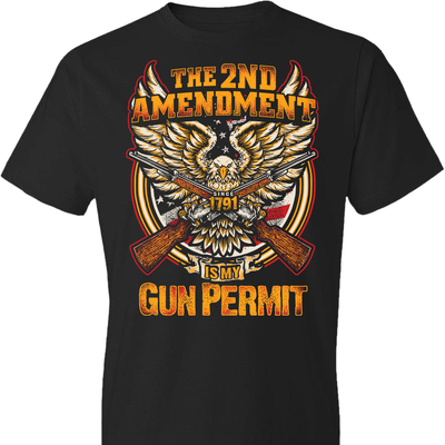 The 2nd Amendment is My Gun Permit - Men's T Shirts - Black