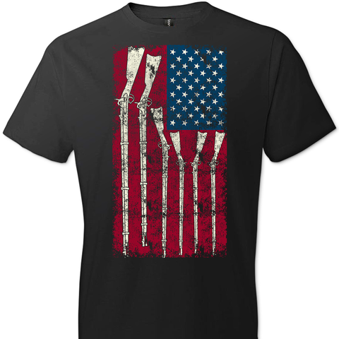 American Flag with Guns T-Shirt