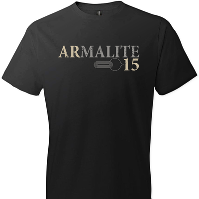 Armalite AR-15 Rifle Safety Selector Men's Tshirt - Black