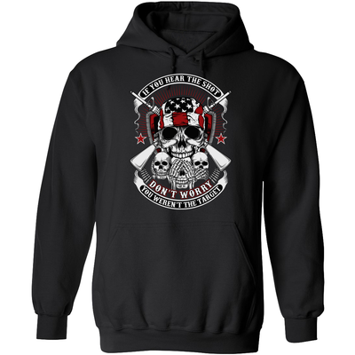 If you hear the shot, don't worry, you weren't the target - Pro Gun Hoodie - Black