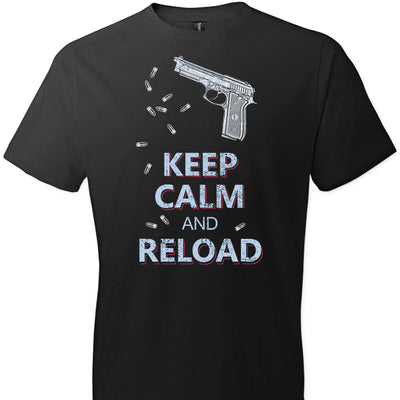 Keep Calm and Reload - Pro Gun Men's Tshirt - Black