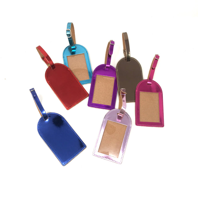 Glass foil luggage tag