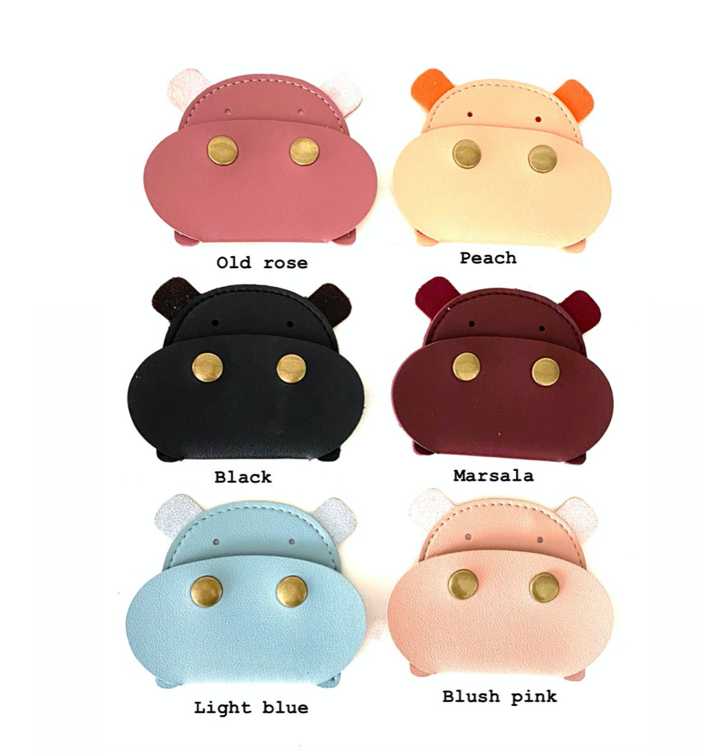Hippo coin purse
