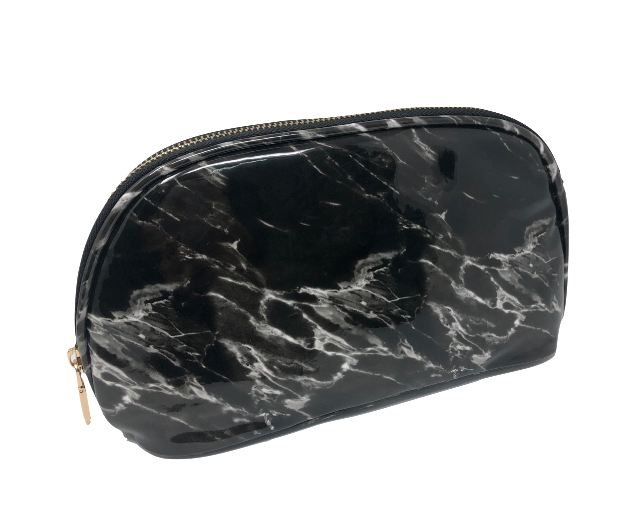 Marble Semi circle pouch