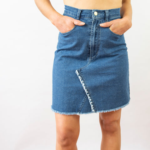 Vintage Bunny Denim Skirt - Filly Faux