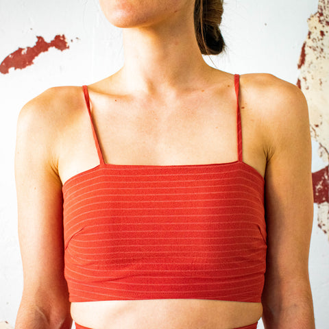 Copper Crop Top - Filly Faux