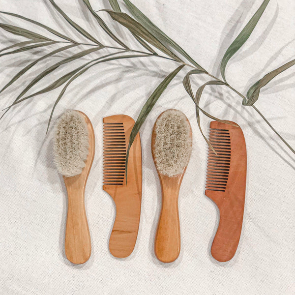 Wooden brush & comb set - Filly Faux