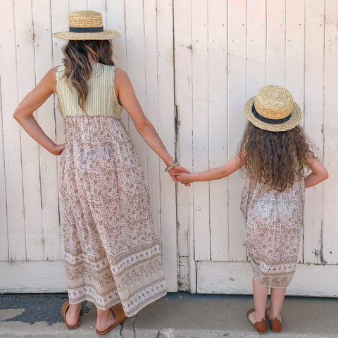 Sandi - kids beige boho dress - Filly Faux