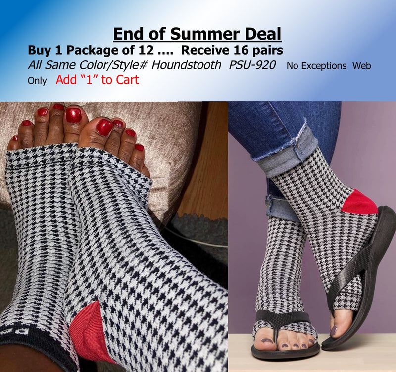 Dozen + Pak - Houndstooth Crimson Tide Sox - Ultra