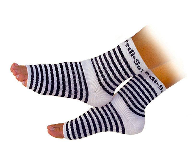 Original Pedi-Sox® - Black & White Stripes