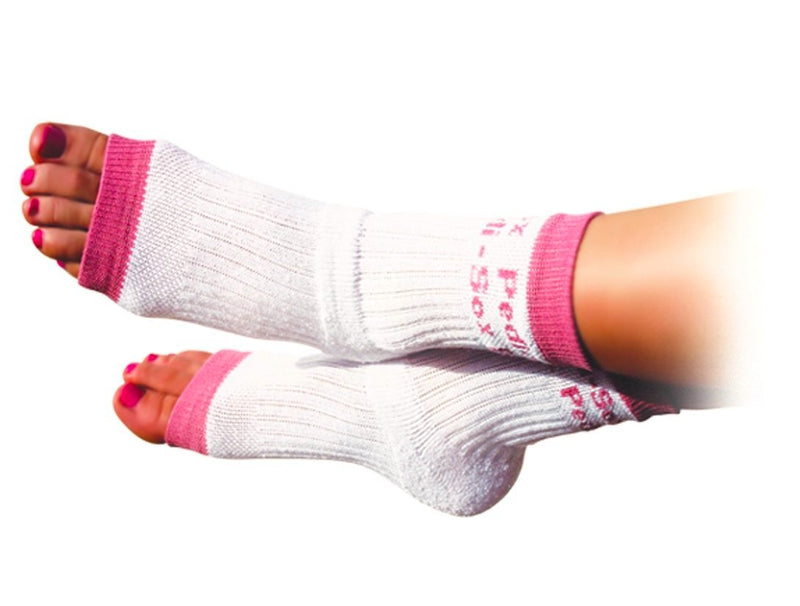 Original Pedi-Sox® Hot Pink Trim Cotton Toeless Socks