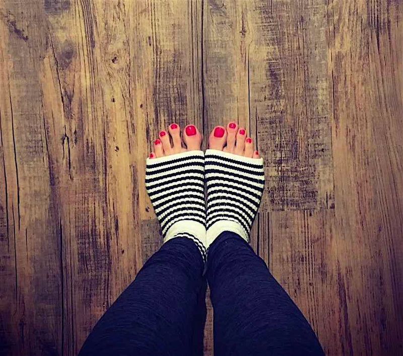 Original Pedi-Sox® - Professional - Black & White Stripes