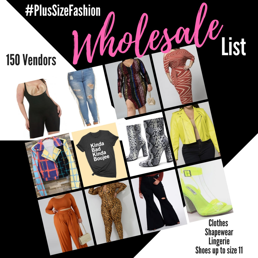 Plus Size Wholesale List Part 1