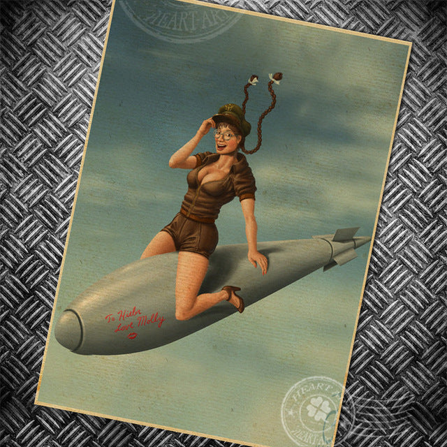 Vintage Pin-Up Girl Wall Decoration