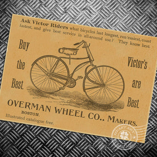HD Vintage Bike Chart, History Old cafe bar, and more 42x30cm