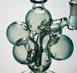 3D Molecular Structure Recycler Bong With Inline Perc 10 Inch Heady Dab Rig Scientific Water Bongs 14.5mm Joint Mini Glass Bubbler XL244