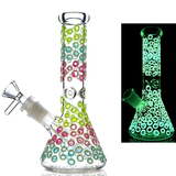 Glow in the Dark Pretty Jewel Beaker Bong