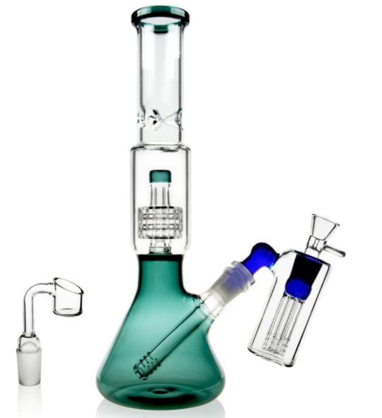 Bong with Percolator & Ice Catcher & Ash Catcher
