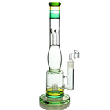 Colorful Tall Honeycomb Percolator Bong
