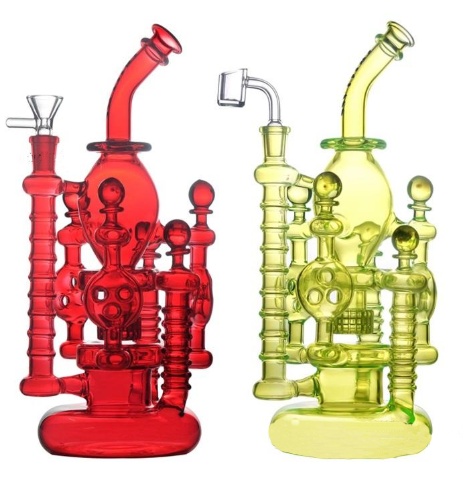12 In Glass Recycler Dab Rig with Matrix Perc | Bong (Water Pipe)