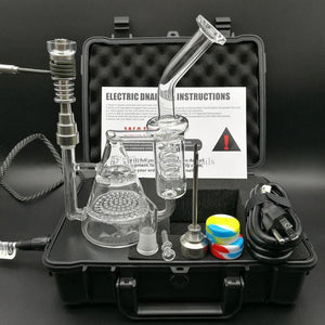 2017 New Arrival Portable E Digital Nail Kit Dry Herbal Wax Box Vaporizer Kit work with oil rigs glass dab rig bong