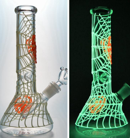 Glow in the Dark Spider Web Bong