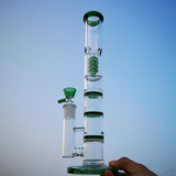 Triple Perc Bong with Honeycomb Percolator