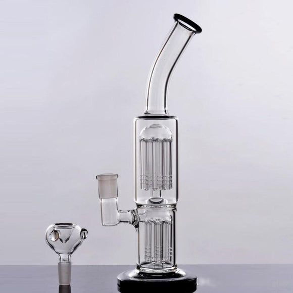 Diamond Glass Incycler Oil Rig Recycler Honeycomb Pipes Bong Two Function Bongs Bubbler Smoking Pipe Glass Hookah Water Bong Dab Oil Rigs