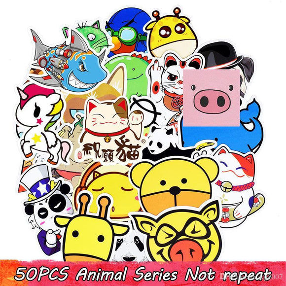 50 Piece Animal Bong Stickers