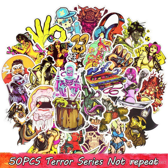 50 Piece Terror Bong Stickers