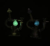 Glow in the Dark Crystal Ball Recycler Bong