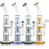 15.5 in Tall Tree Perc Glass Water Pipe