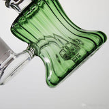 Green 6in Dab Rig Bubbler close up