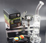 Newest E Digital Nail Kit with 6 in 1 Titanium/Quartz hybrid nail coil heater work with Barrel to fab Egg incycler bong