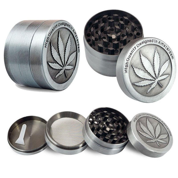 True Gray - 4 layer mini Zinc Alloy Herb Grinder