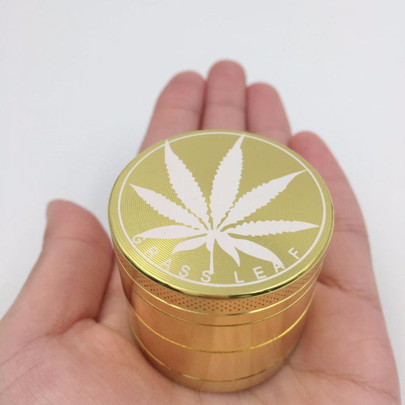 Ultra Gold Color Herbal Grinder + Free Pendant Rocky Green King
