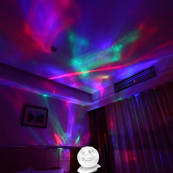 Psychedelic Lamp Light Aurora Borealis Projector Decorative Relaxing Trippy   Led Night Light Lamp Aurora Star projector