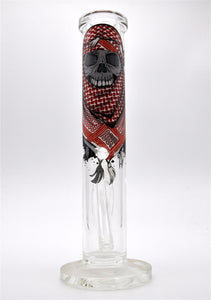 Skull Graphics Bong black