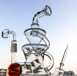 9.5 in glass recycler for concentrates